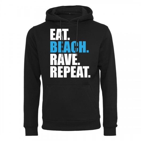 EAT BEACH RAVE REPEAT - Light Hoodie