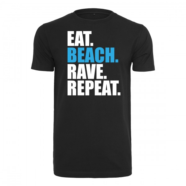 EAT BEACH RAVE REPEAT - T-Shirt Klassik